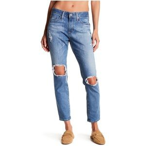 AG Ripped Low Rise Beau Slouchy Skinny Jeans